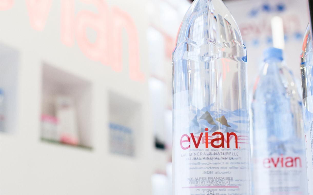 Nước khoáng Evian (Pháp) chai nhựa 330ml