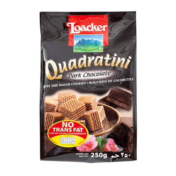 Bánh xốp Loacker Quadratini Dark Chocolate 250g