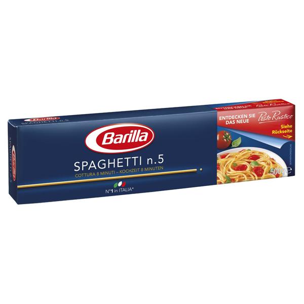 Mỳ Barilla số 5 sợi hình ống các cỡ Spaghetti 500g
