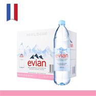 Nước khoáng Evian(Pháp) chai nhựa 1250ml x 12 chai