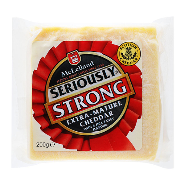 Phô mai Cheddar Trắng Extra Seriously Strong 200g